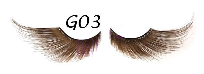 Long Purple False Eyelash #G02